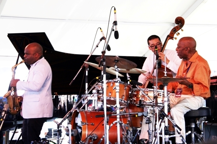 Roy Haynes (right) and his Fountain of Youth Band, Newport Jazz Festival 2013