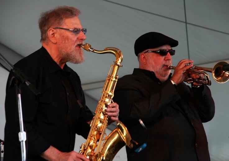 Lew Tabackin, Randy Brecker, Newport Jazz Festival 2013