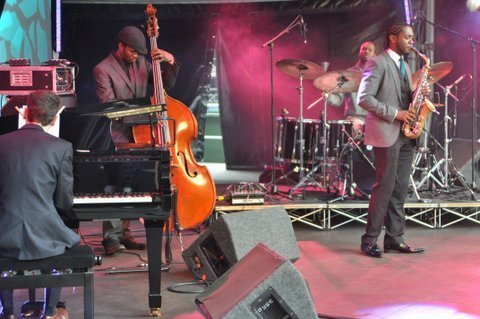 Nathaniel Facey Quartet in performance at the Canary Wharf Jazz Festival in August 2013