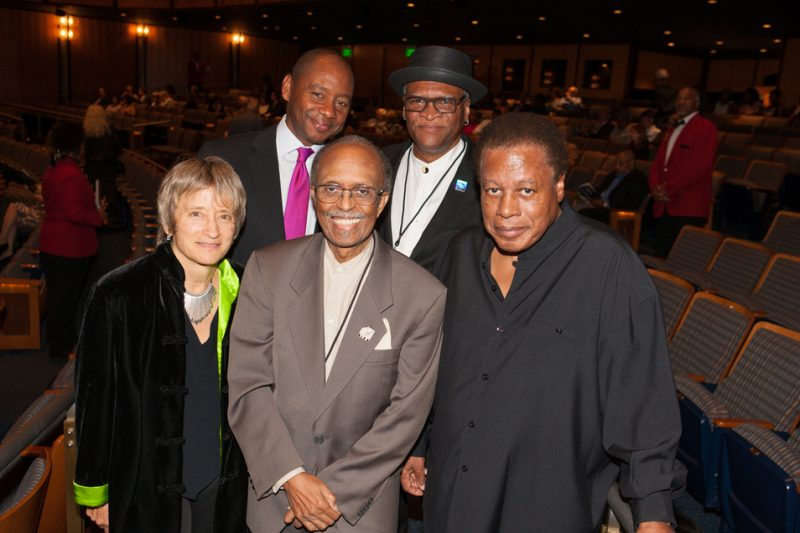 The judges of the 2013 Thelonious Monk sax competition (clockwise from top left): Branford Marsalis, Bobby Watson, Wayne Shorter, Jimmy Heath and Jane Ira Bloom