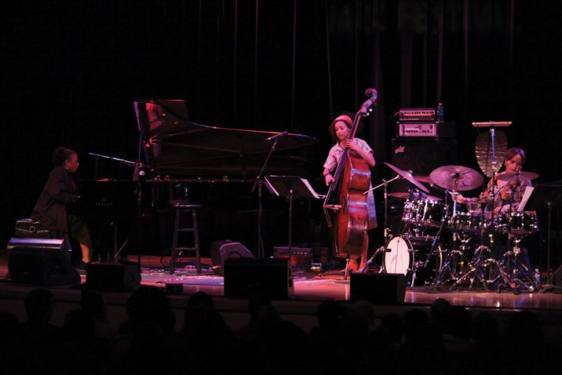 ACS--Geri Allen, Esperanza Spalding and Terri Lyne Carrington (from left)--perform at Wayne Shorter's 80th Birthday Celebration, Town Hall, NYC, June 2013
