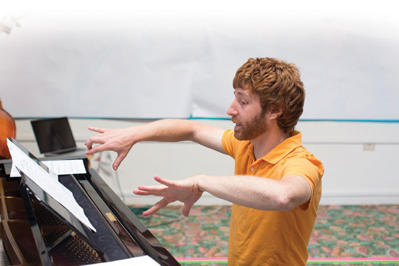 Benny Green rehearses at the Monterey Jazz Festival in 2012