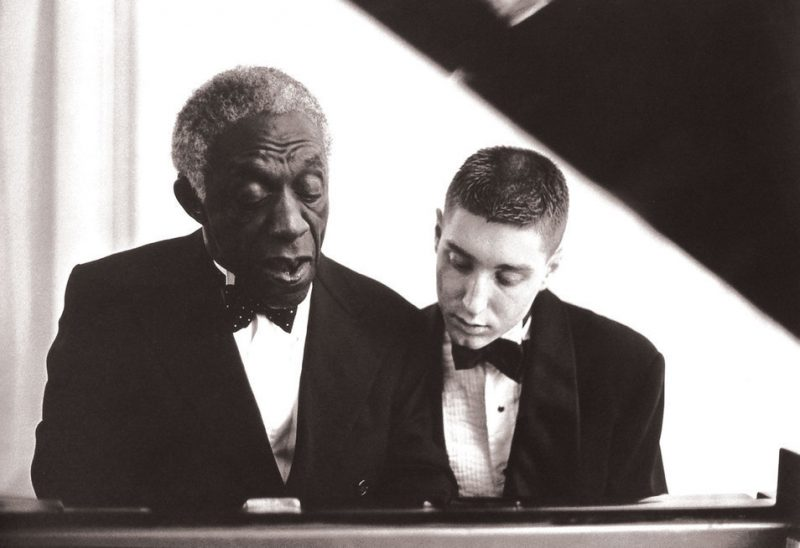 Benny Green (r.) with Art Blakey, 1988
