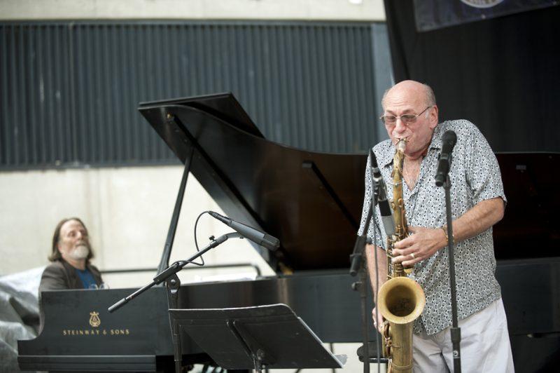Richie Beirach (left) and Dave Liebman, Detroit Jazz Festival 2013