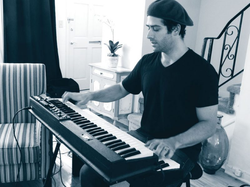 Jared Gold at home in New Jersey with his JG3