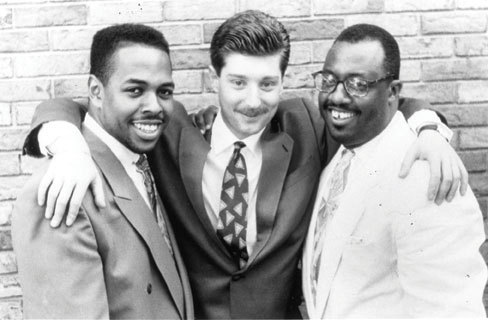 Benny Green with Christian McBride (l.) and Carl Allen (r.) in 1991