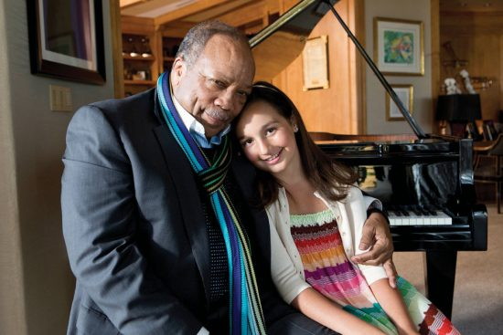 Emily Bear with Quincy Jones image 3