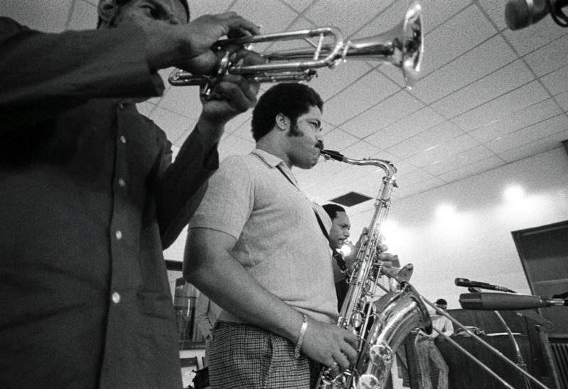 Clifford Jordan (on saxophone)