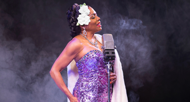 "Dee Dee Bridgewater in ""Lady Day"" on Broadway"