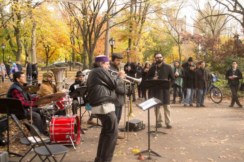 Frank London's Klezmer Brass All Stars (with London on trumpet), Jazz & Colors, Central Park, NYC, 11-13