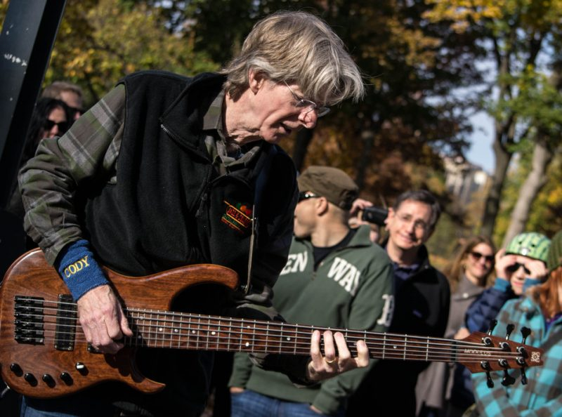 Phil Lesh, former Grateful Dead bassist, performed at Jazz & Colors, Central Park, NYC, 11-13. Lesh played an unannounced half-hour set with guitarist Eric Krasno and drummer Joe Russo.