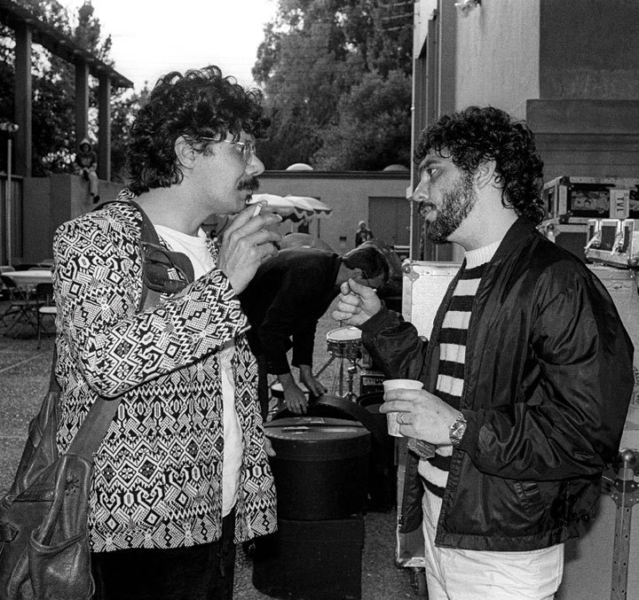 Chick Corea and Steve Gadd, backstage at the 1980 Berkeley Jazz Festival