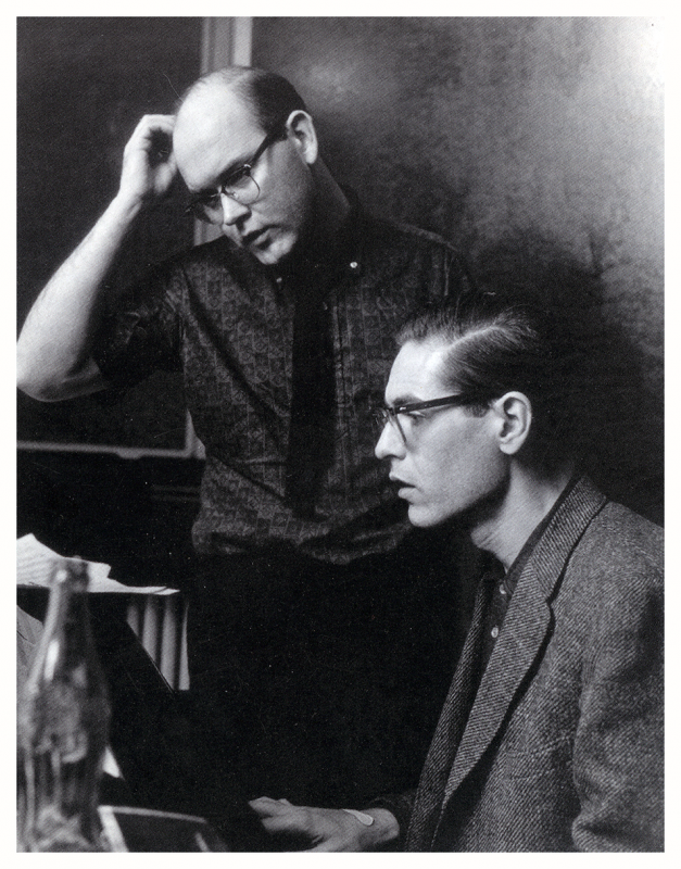 Jim Hall (l.) and Bill Evans
