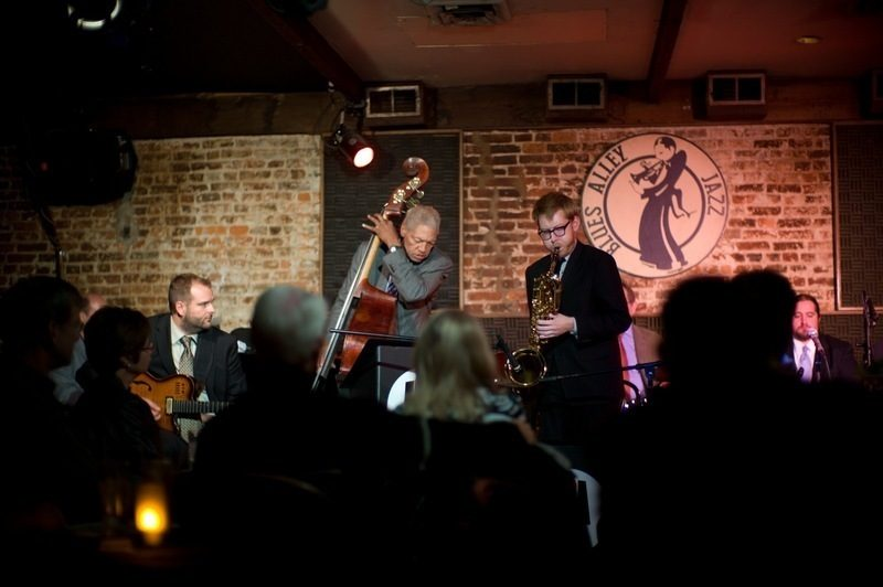 Bassist Butch Warren and saxophonist Brad Linde at Washington, D.C.'s Blues Alley