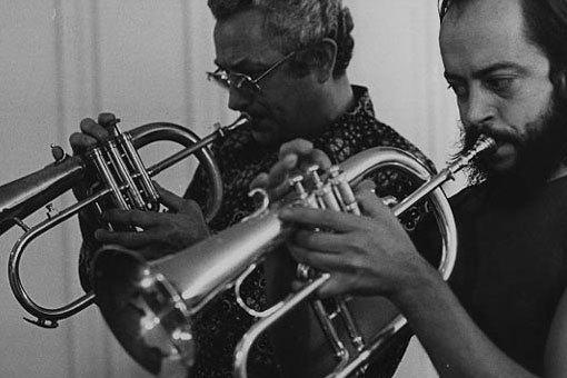 Al Porcino (l.) and Chuck Mangione, 1980