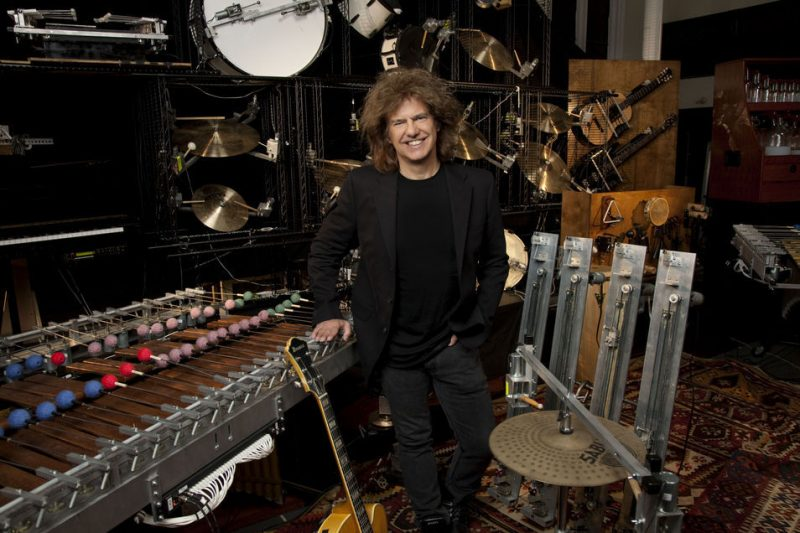 "Pat Metheny with ""Orchestrion"" machinery"