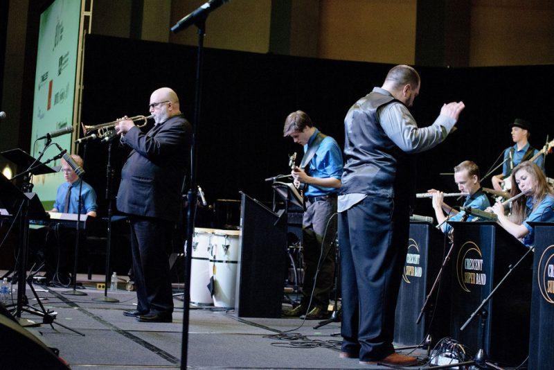 Randy Brecker w. Caleb Chapman's Crescent Super Band, JEN Conference, Dallas 2014