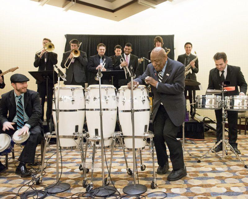Candido w. the Univ. of North Texas Latin Jazz Lab, JEN Conference, Dallas 2014