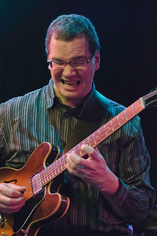 Guitarist Pete McCann performs with the Grace Kelly Quintet, Ottawa JazzFest Winter Series, 2-14