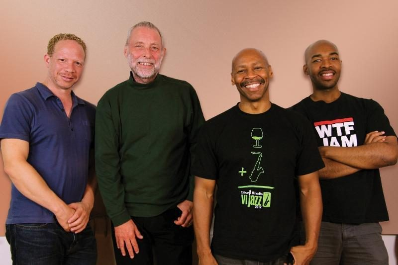 Prism, l. to r.: Craig Taborn, Dave Holland, Kevin Eubanks, Eric Harland