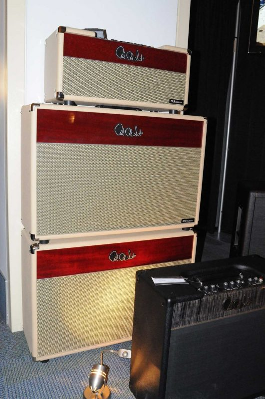 PRS DG Custom David Grissom signature amp and cabinets, on display at Winter NAMM  2014