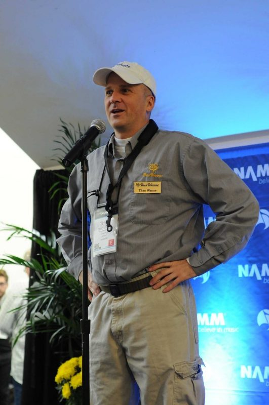 Mouthpiece designer and manufacturer Theo Wanne at his Winter NAMM 2014 press conference