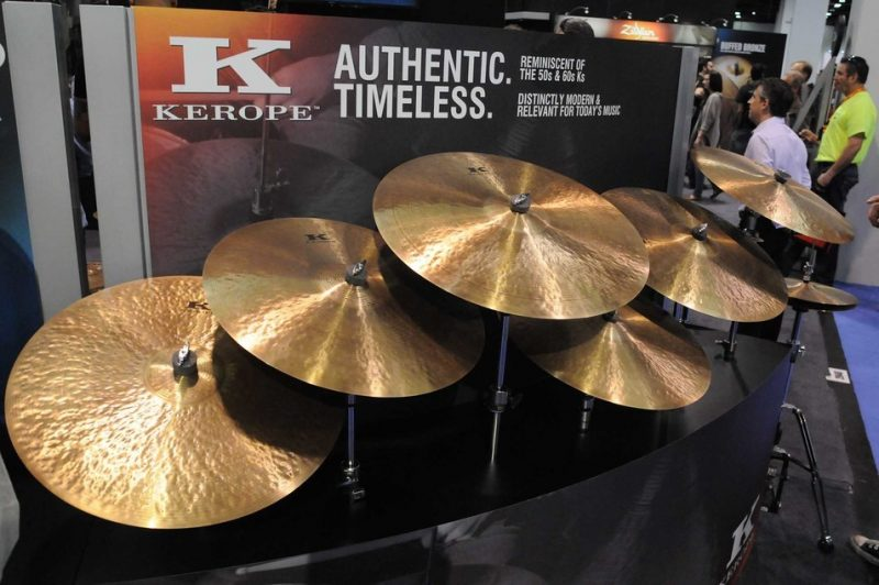 Zildjian's Kerope series cymbals on display at Winter NAMM 2014