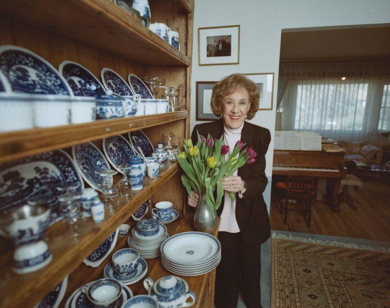 Marian McPartland at home