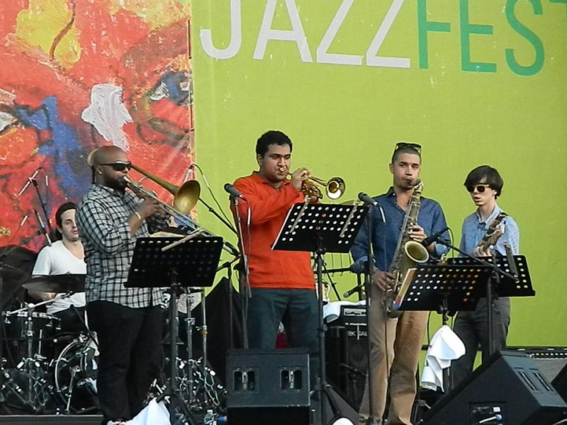 Berklee students in performance at the 2014 Puerto Rico Heineken Jazz Festival