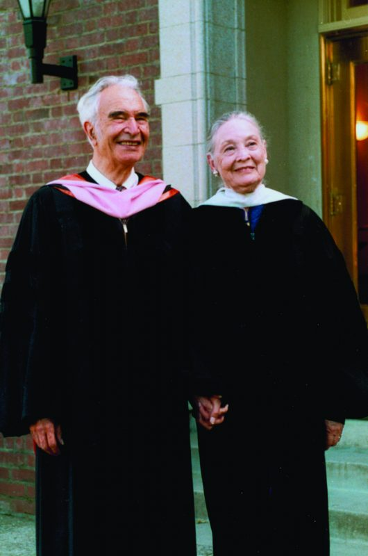 Dave and Iola Brubeck visited their alma mater University of the Pacific in Stockton, Calif., for commencement in 2006. Mrs. Brubeck passed away on March 12, 2014.