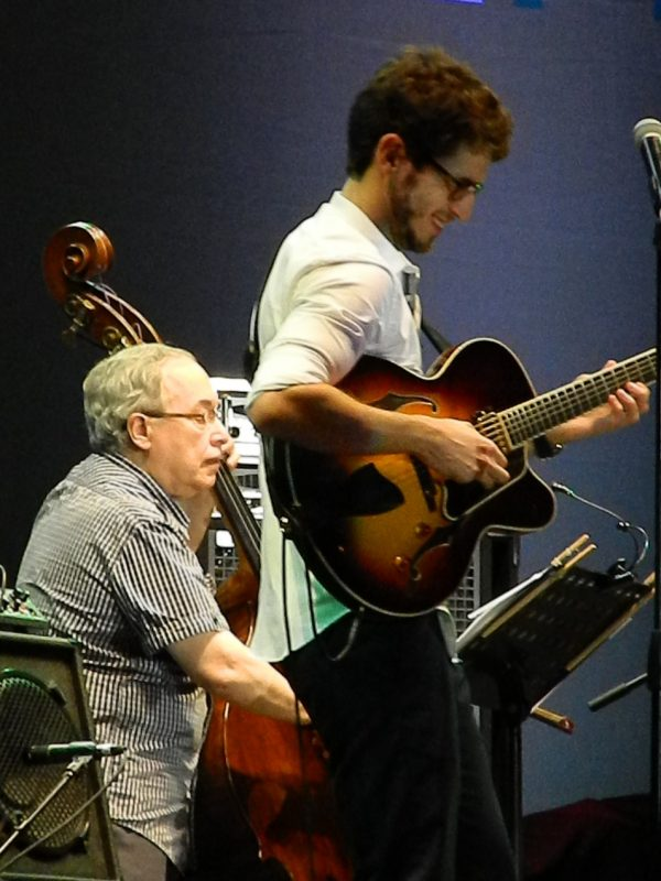 Eddie Gomez and Gabriel Vicens in performance at the 2014 Puerto Rico Heineken Jazz Festival