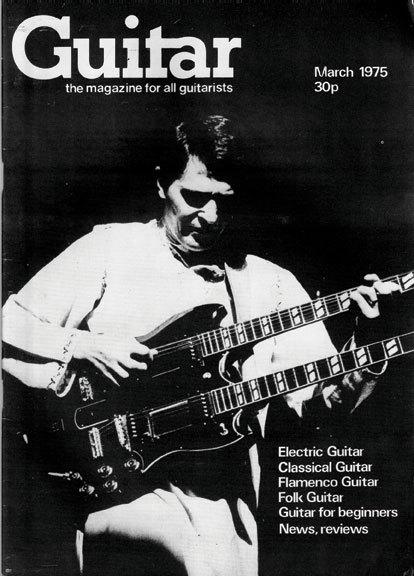 John McLaughlin on the cover of Guitar Magazine, 1970s