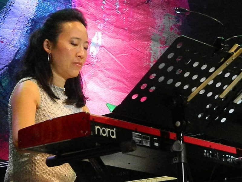 Helen Sung in performance with Terri Lyne Carrington at the 2014 Puerto Rico Heineken Jazz Festival