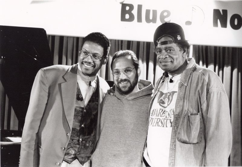 Richie OKon with Herbie Hancock and Donald Byrd at the Blue Note in New York City