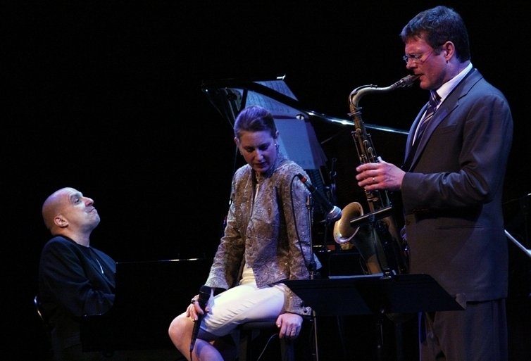 Alexis Cole with pianist John di Martino and saxophonist Eric Alexander, Sarasota (Florida) Jazz Festival 2014