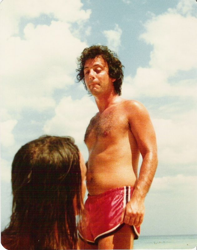Jaco Pastorius giving Billy Joel a hard time, or Billy Joel giving Jaco some lip. On the beach outside of Havana, 1979.