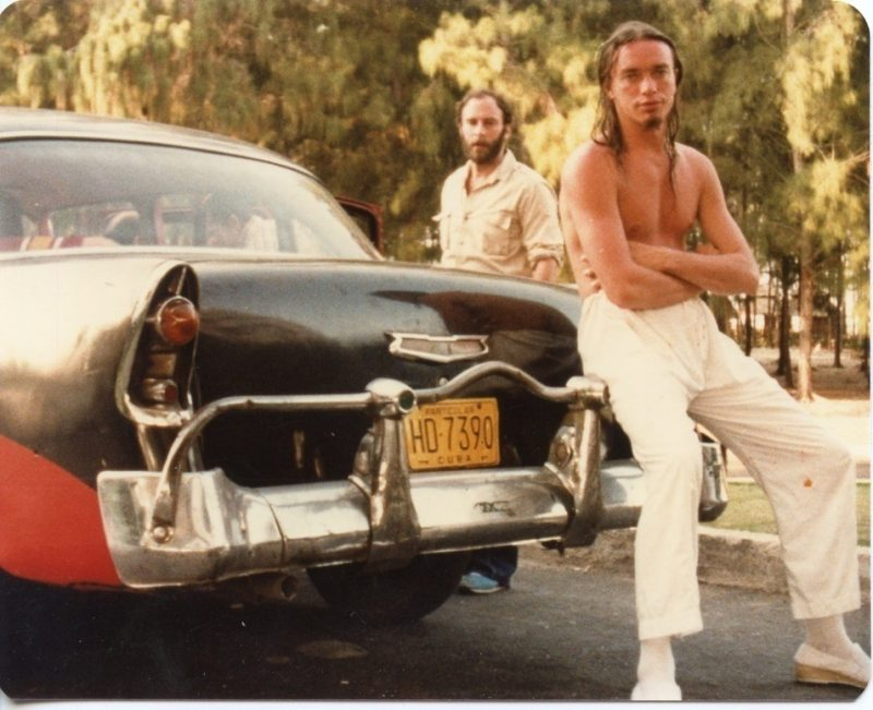 "Peter Erskine: ""I took this photo just as Jaco [Pastorius] was either coming back from or going to a photo shoot of him walking around Havana, posing, etc. This was the first trip where Jaco's erratic behavior became so manifest/obvious."""