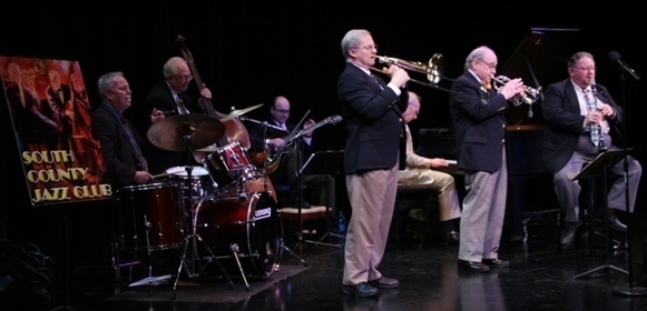 The Jim Cullum Jazz Band in concert in Sarasota, Florida, 3/14