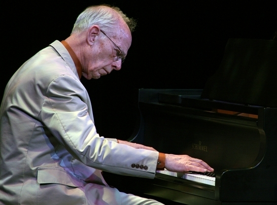 Pianist John Sheridan of the Jim Cullum Jazz Band, Sarasota, Florida, 3/14