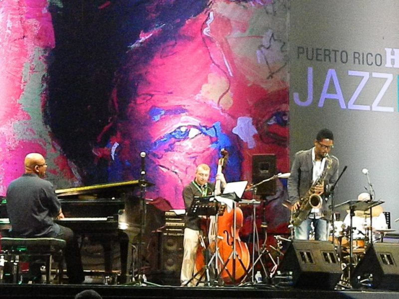 Luis Perdomo and his group in performance at the 2014 Puerto Rico Heineken Jazz Festival
