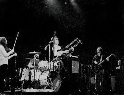 Mahavishnu Orchestra's first publicity photo, 1972: Jerry Goodman, Bill Cobham, John McLaughlin, Rick Laird and Jan Hammer (from left). Courtesy of Jawbone Press