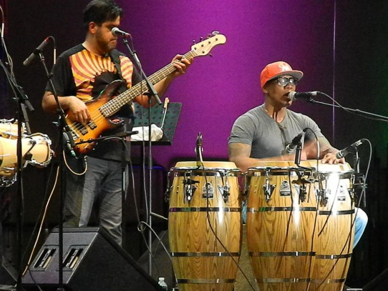 Pedrito Martinez in performance at the 2014 Puerto Rico Heineken Jazz Festival