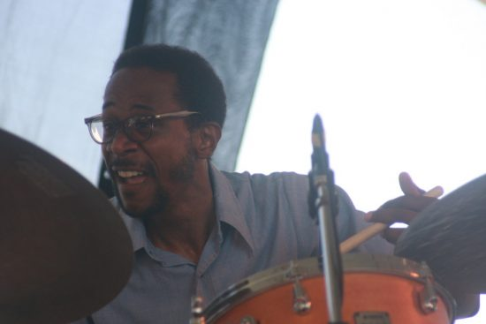 Brian Blade performing with David Binney at CareFusion Newport Jazz Festival 2010 image 0