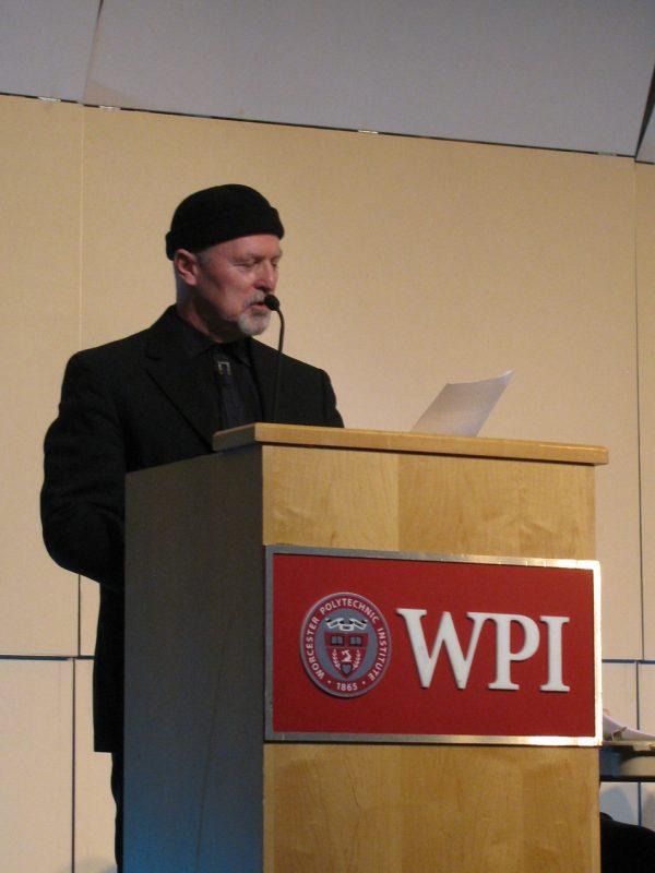 Chet Williamson, WICN Radio host, at Jaki Byard symposium at WPI, Worcester, Mass., 4-14