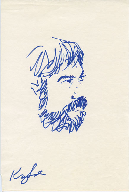 Sketch of Peter Erskine by Jaco Pastorius. Courtesy of Peter Erskine