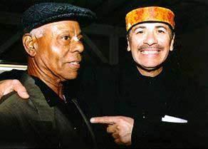 Armando Peraza and Carlos Santana