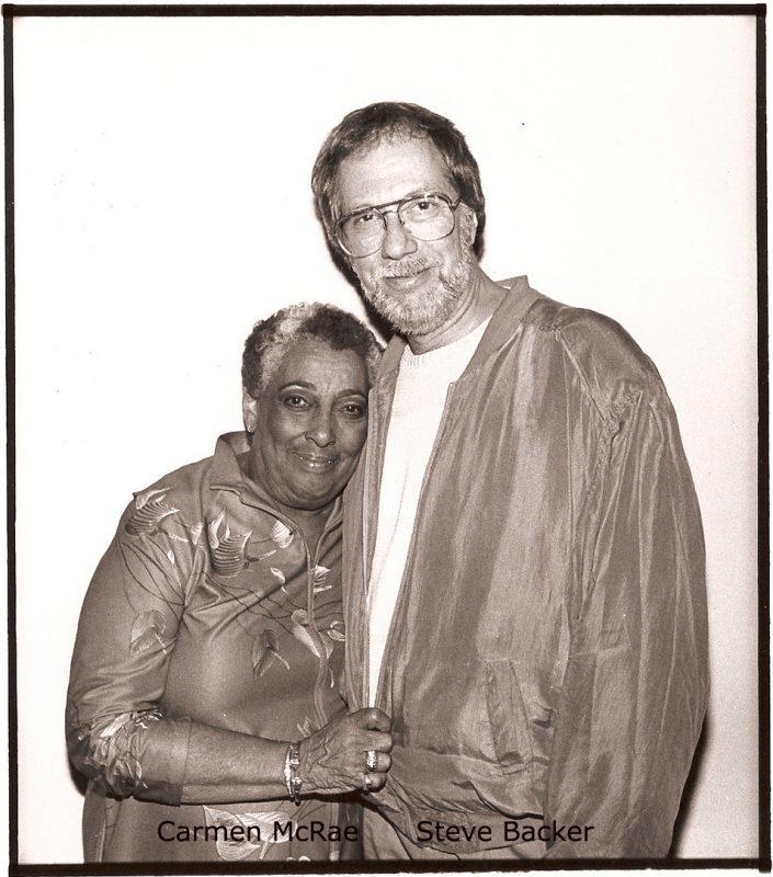 Carmen McRae with Steve Backer