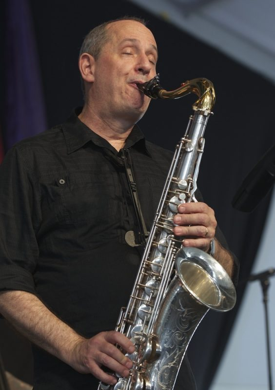 David Torkanowsky, onstage with Astral Project, at the 2014 New Orleans Jazz & Heritage Festival