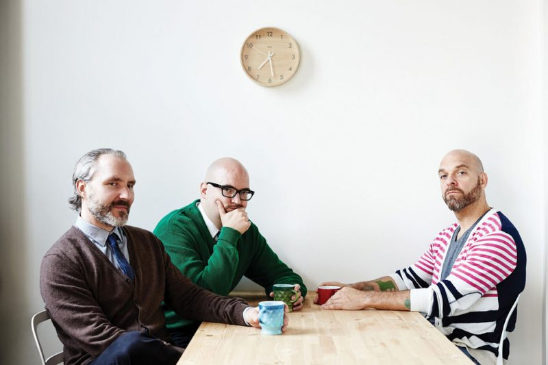 The Bad Plus--(l. to r.) Reid Anderson, Ethan Iverson, Dave King