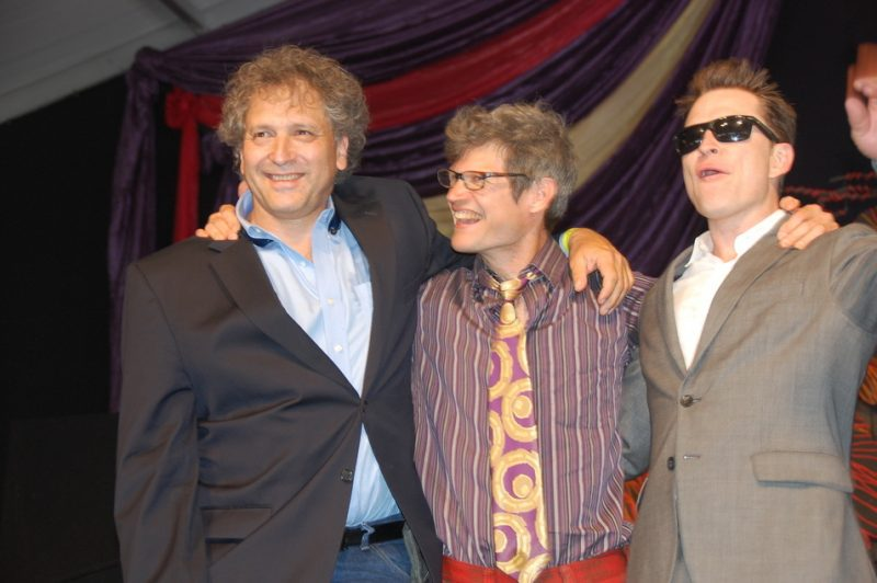 David Torkanowsky, James Singleton and Stanton Moore (from left) at the 2014 New Orleans Jazz & Heritage Festival